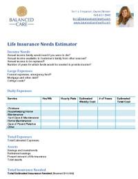 Balanced Care Health | Insurance Needs Estimator